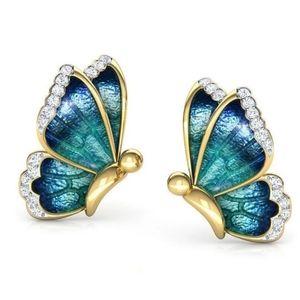🎀Oil Painted Butterfly Stud Earrings